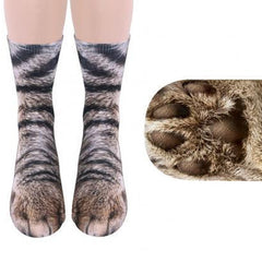 Animal Paw Crew Socks - real animal paws look-alike