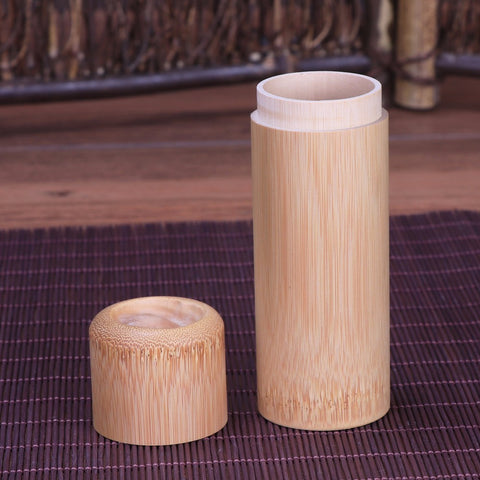 Handmade Bamboo Canisters For Tea, Spices And Herbs
