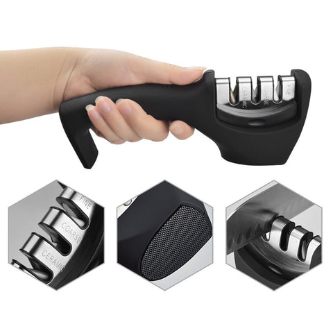 3 In 1 Diamond Ceramic Professional Knife Sharpener