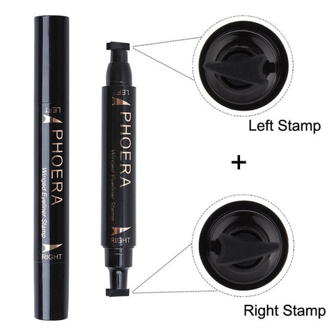 Quick-dry Waterproof Cat Eye Eyeliner Stamp 2-in-1