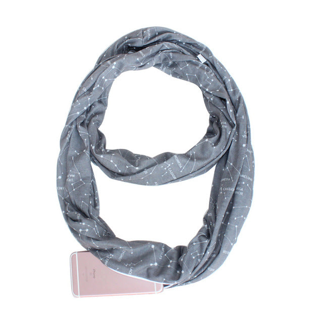 Multi-Way Infinity Scarf With Pocket