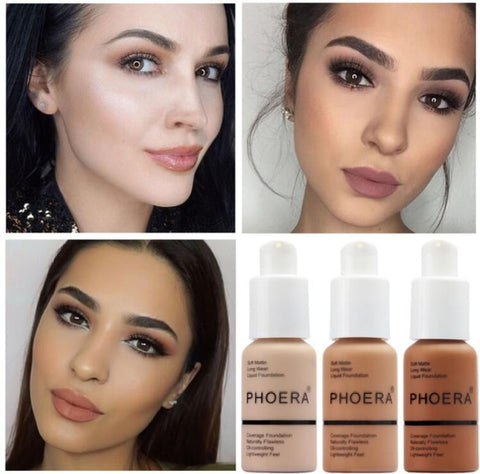 PHOERA™ SPOTLESS SOFT MATTE FULL COVERAGE LIQUID FOUNDATION