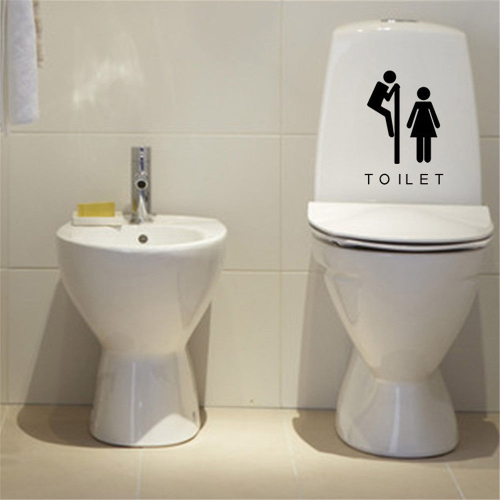 Funny Toilet Door & Seat Decals/ Stickers