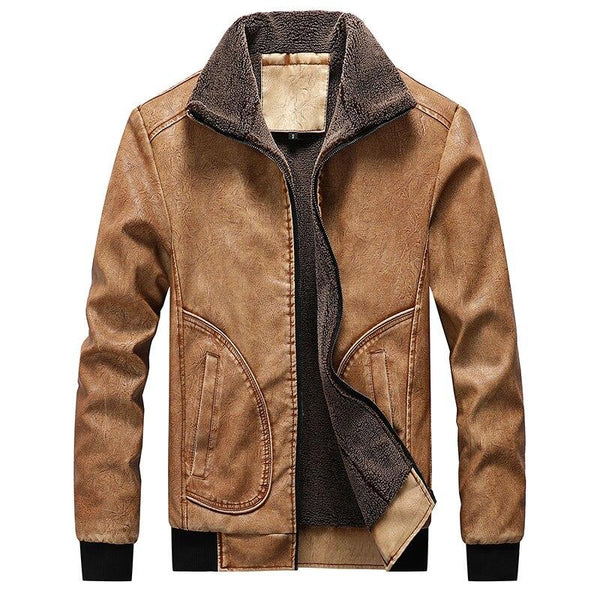Men's Winter Leather Jacket