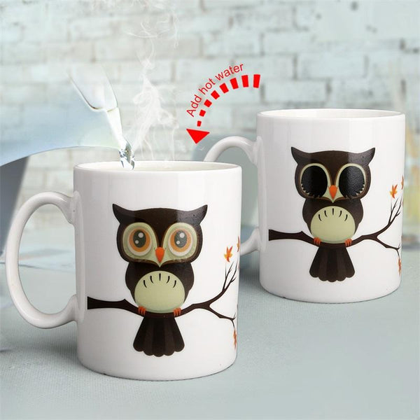 Magic Owl Eyes Changing Mug