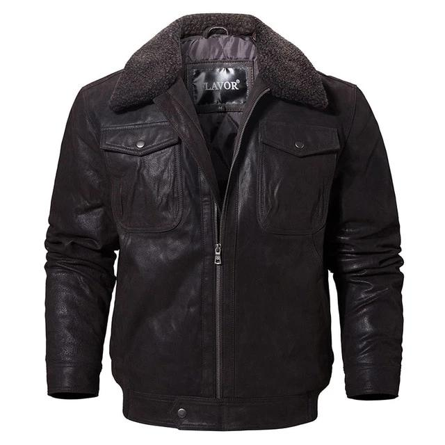 Men's Genuine Leather Jacket