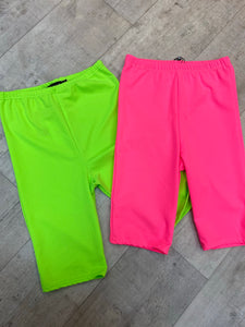 Neon cycling shorts (2 colours )