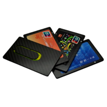 real carbon fiber magnetic card holder wallet 5 layer - Magnetic Card Holder
