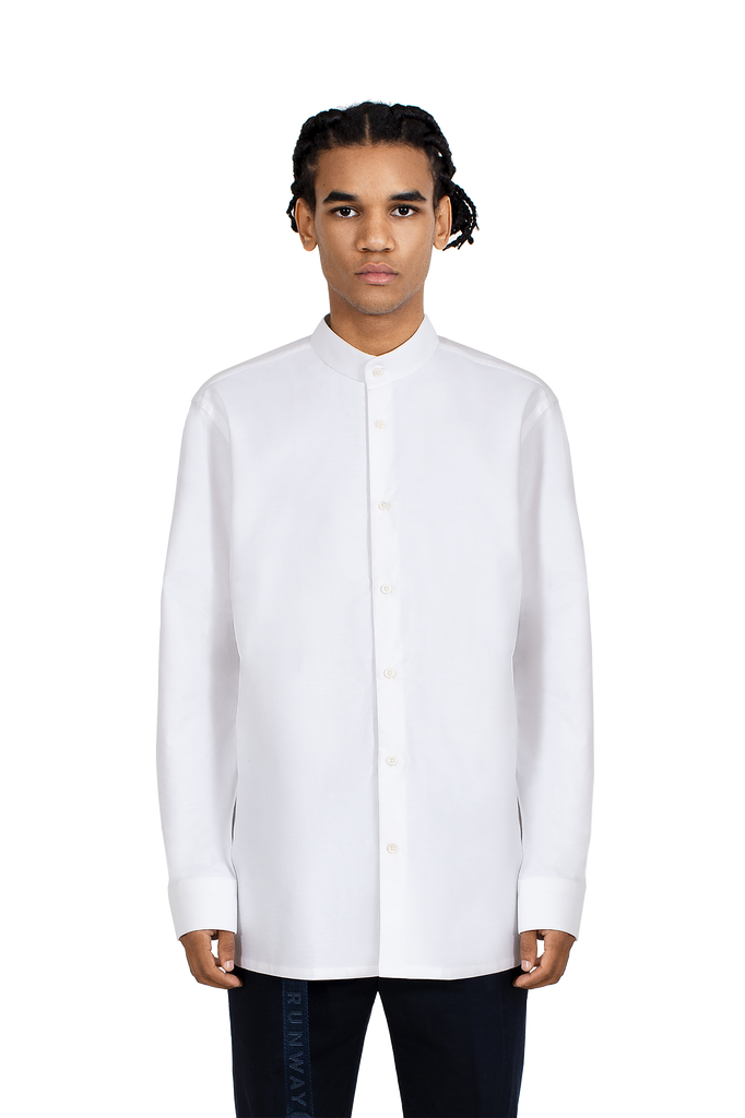 MAINLINE white longsleeve oversized tailored shirt