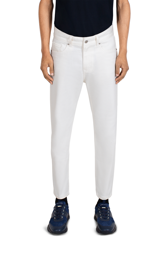 MAINLINE WHITE DENIM JEANS
