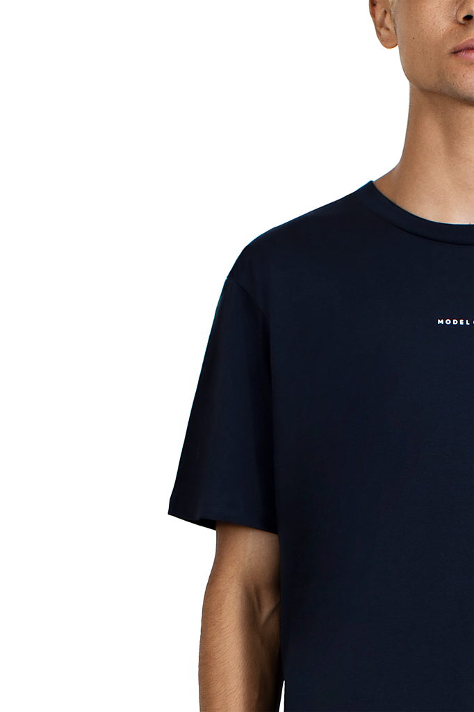 Neon Blue Navy Short Sleeve T-Shirt