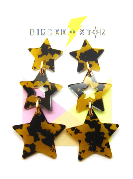 Star Drops Star Dangles - Various Colours