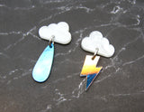Stormy Weather Dangles - White Cloud