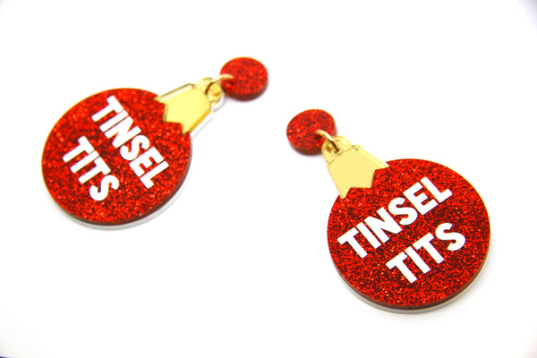 Tinsel Tits Bauble Dangles