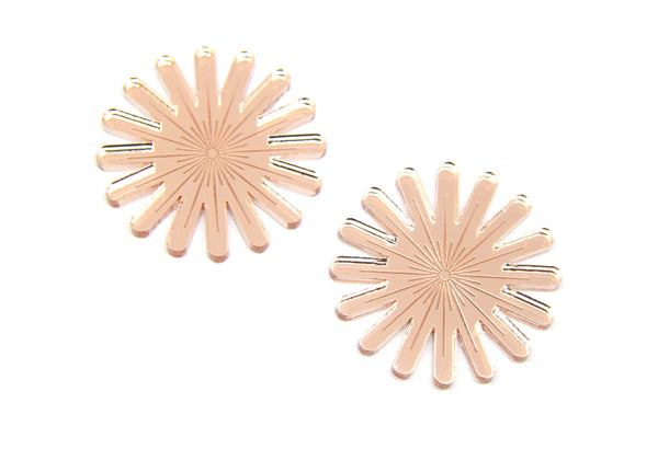 Firewerk Large Studs in Rose Gold Mirror