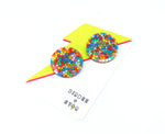 Fairy Bread Midi Disc Studs