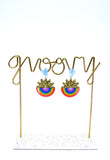 Sunshine and Rainbows Statement Dangles