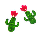 Party Cactus Midi Dangles in Forest Green Swirl