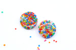 Fairy Bread Disc Studs