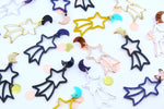 Wish Upon A Star Shooting Star Dangles - Various Colours