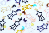 Wish Upon A Star Shooting Star Dangles - Choose your colour!