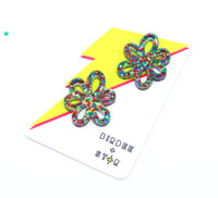 Floral Fling Studs - Various Colours