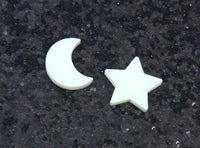 Night Lights Moon & Star Studs - Glow in the Dark