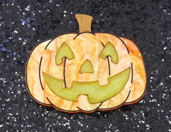 Jack the Lantern Brooch - Glow in the Dark