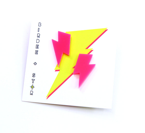 Pow Pow Lightning Bolt Studs - Various Colours