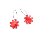 Ring-A-Dings Floral Hoops - Rosy Red