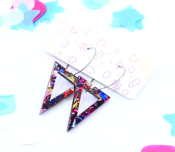 Ring-A-Dings Triangle Hoops - Various Colours