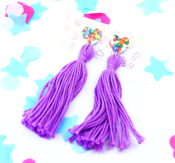 Candy Floss Tassel Dangles