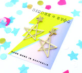 Sketchy Stars Dangles - Various Colours