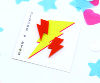 Flashy Lightning Bolt Studs - Various Colours