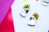 Locky the Cocky Small Studs - Birdee & Star x Schudio Collaboration