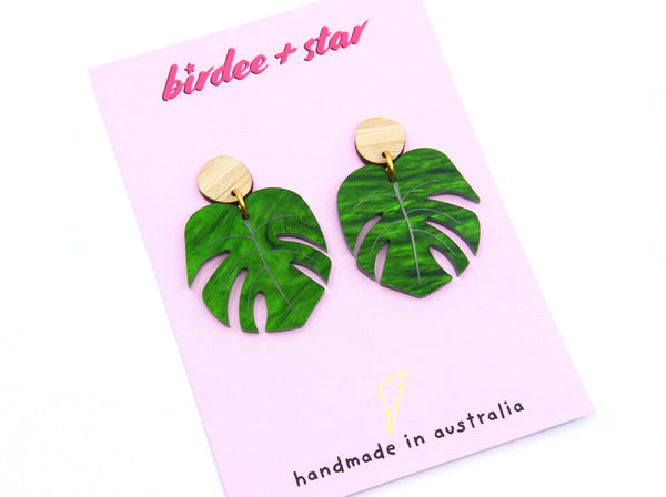 Shady Lady Large Monstera Dangles