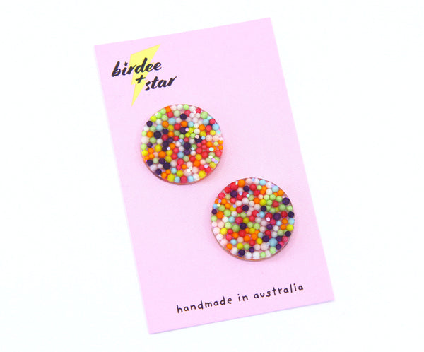 Fairy Bread Circle Studs