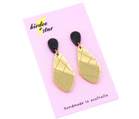 Bellini Dangles in Gold & Black