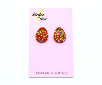 Dew Drop Studs in Holiday Spirit