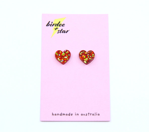 Sweetheart Small Studs in Holiday Spirit