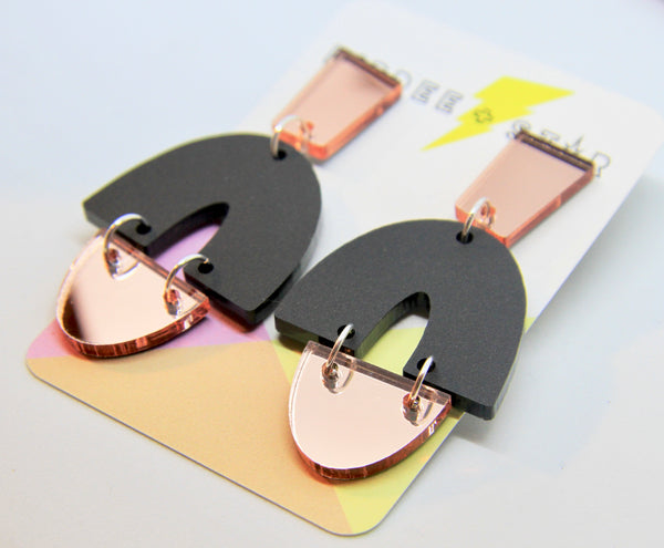 Della Abstract Dangle Earrings - Various Colours