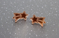 Wish Upon A Star Studs - Rose Gold Mirror