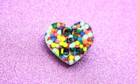 Love Is Love Heart Brooch