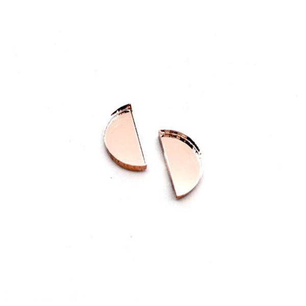 Aurora Half Moon Studs - Various Colours