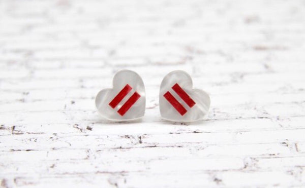 Equality For All Heart Studs