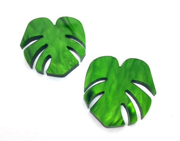 Shady Lady Monstera Large Studs
