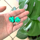 Shady Lady Small Monstera Studs