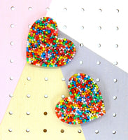 Fairy Bread Mega Heart Studs