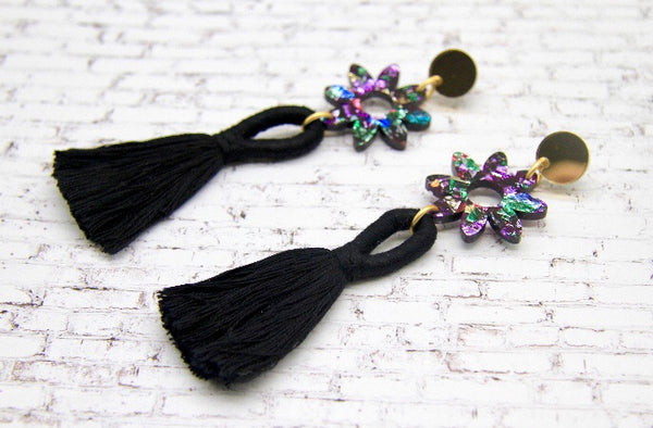 Floral Fancy Tassel Dangles