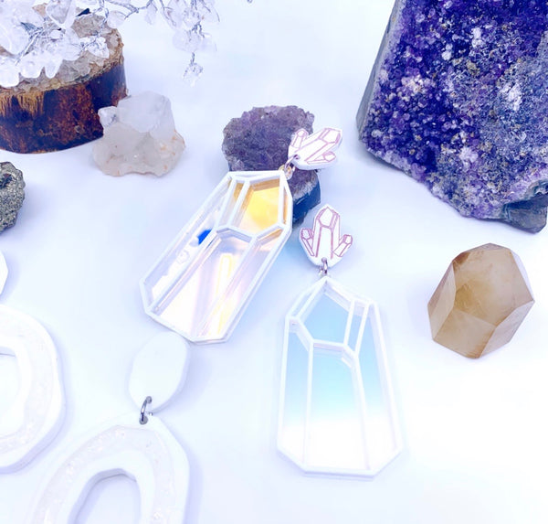 Crystalline Extra Large Crystal Shaped Dangles